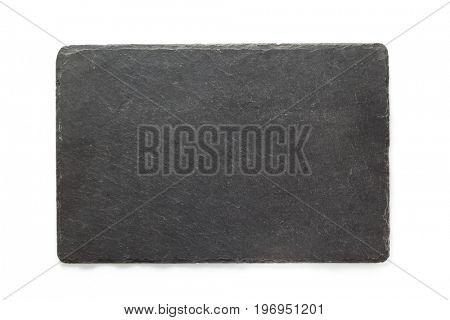 black slate signboard isolated on white background
