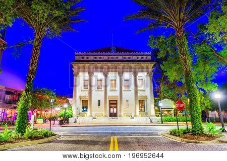 Gainesville, Florida, USA at downtown.