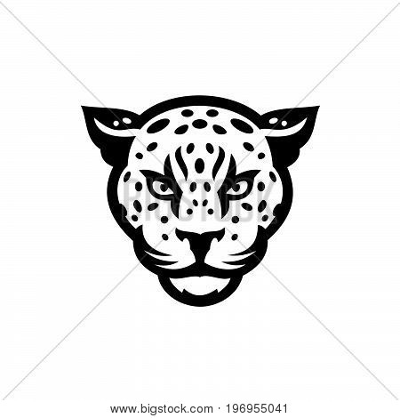 Tiger head - vector logo concept illustration in classic graphic style.
