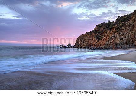 Sunset Over The Beach At Crescent Bay In Laguna Beach