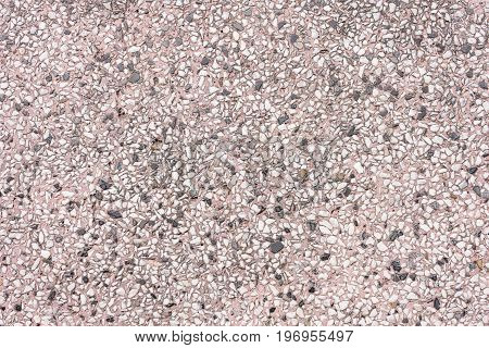 Purple gravel background. Gravel background for design. Gravel background in general style. Gravel background and small stone
