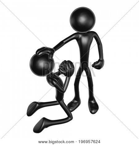 Pardon Concept The Original 3D Characters Illustration