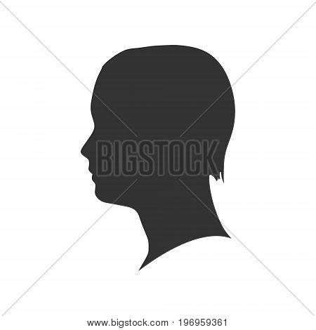 Man avatar profile view. Isolated male face silhouette or icon . Vector illustration.