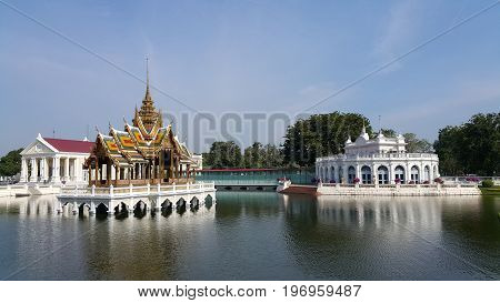 Bang Pa In Royal Palace. It's summer palace formerly used by the Thai kings. Beside the Chao Phraya River in Bang Pa In district , Ayutthaya Province , Thailand.