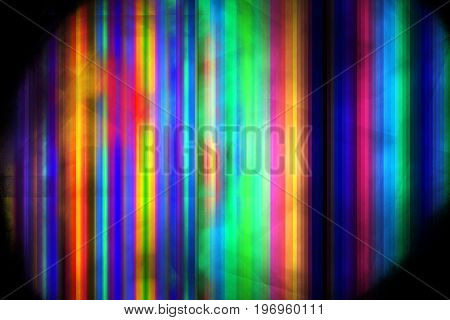 Abstract Rainbow Lines. Psychedelic Fractal Background. Digital Art. 3D Rendering.