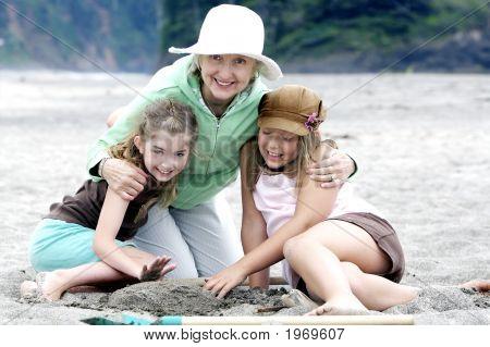 Grandma And  Granddaughters