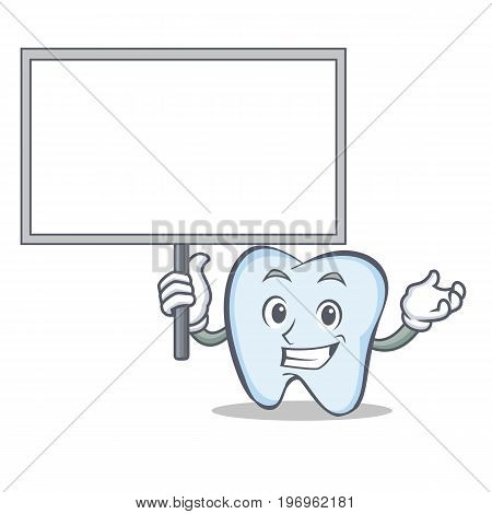 Bring board tooth character cartoon style vector illustration
