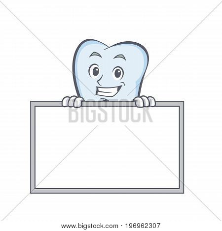 Grinning with board tooth character cartoon style vector illustration