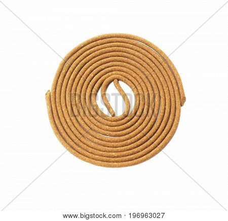 Oriental Praying Incense Coils on White Background