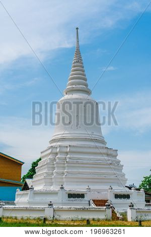White Pagoda is located in the temple. Be respectful of local people.