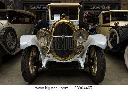 BERLIN - MAY 10 2015: Vintage car of the German manufacturer NAG C4 10/30 Phaeton. 28th Berlin-Brandenburg Oldtimer Day