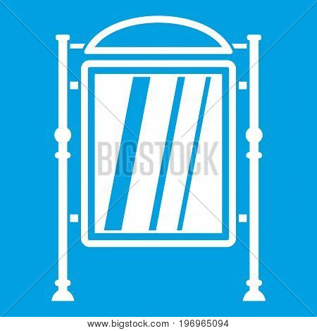 Advertising sign icon white isolated on blue background vector illustration