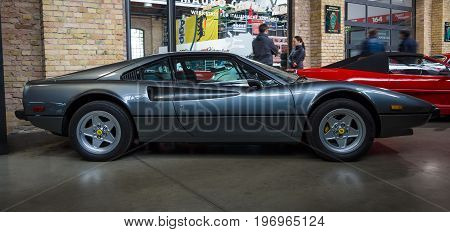 BERLIN - MAY 10 2015: Sports car Ferrari 308 GTB. 28th Berlin-Brandenburg Oldtimer Day
