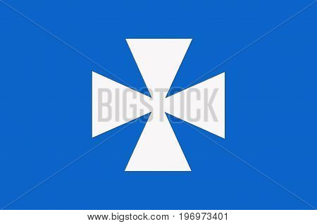 Flag of Rzeszow is the largest city in southeastern Poland. Vector illustration