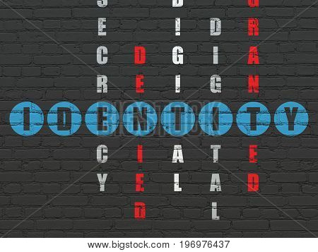 Protection concept: Painted blue word Identity in solving Crossword Puzzle