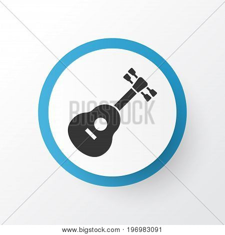 Premium Quality Isolated Instrument Element In Trendy Style.  Guitar Icon Symbol.