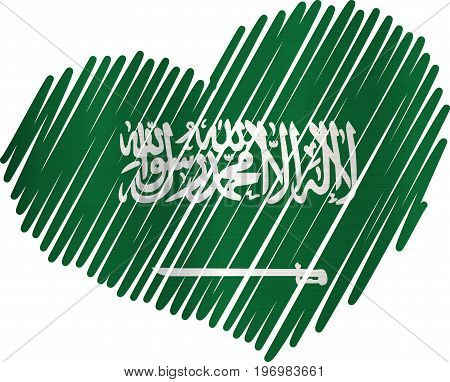 Lined Heart Saudi Arabia metallic texture country  nation