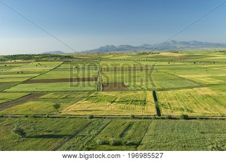 sustainable rural area development & fields and agriculture