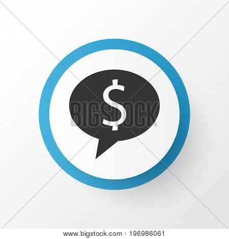 Premium Quality Isolated Deal Element In Trendy Style.  Money Icon Symbol.