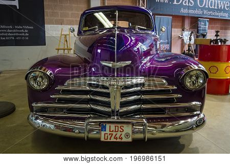 PAAREN IM GLIEN GERMANY - MAY 23 2015: Vintage car Chevrolet Fleetmaster. The oldtimer show in MAFZ.