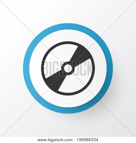 Premium Quality Isolated Cd-Rom Element In Trendy Style.  Disk Icon Symbol.