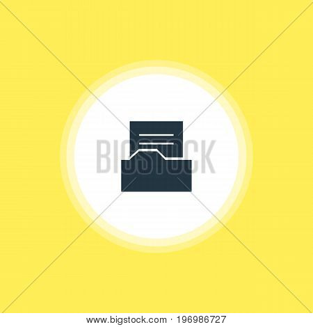 Beautiful Web Element Also Can Be Used As Document Directory Element.  Vector Illustration Of Folder Icon.
