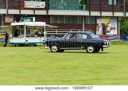 PAAREN IM GLIEN GERMANY - MAY 23 2015: Soviet executive car GAZ M21 Volga. The oldtimer show in MAFZ.