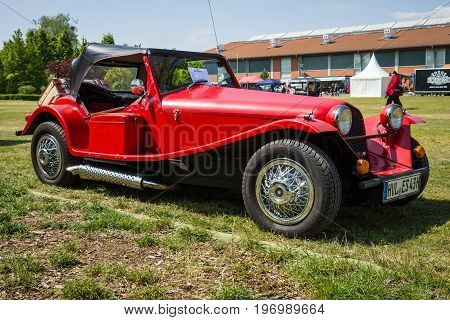 PAAREN IM GLIEN GERMANY - MAY 23 2015: Roadster Marlin is based around Triumph Herald components 1965. The oldtimer show in MAFZ.