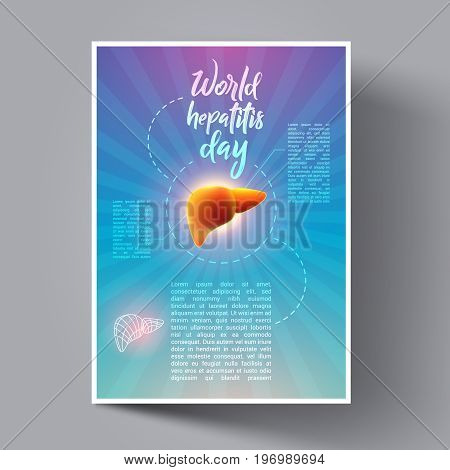 Vector human organs infographic vector photo bigstock vector human organs infographic liver hepatitis day flyer leaflet banners stopboris Choice Image