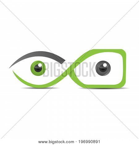 eye glasses vector volor design illustration. Abstract eye galsses logo