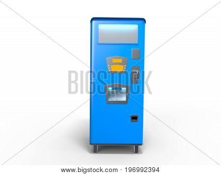 Blue Old Style Soda Machine Illustration 3D