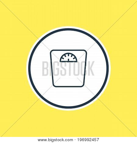 Beautiful Health Element Also Can Be Used As Weighing Element.  Vector Illustration Of Scales Outline.