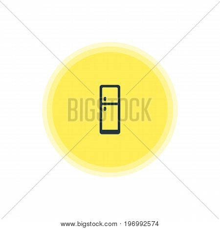 Beautiful Cooking Element Also Can Be Used As Refrigerator  Element.  Vector Illustration Of Fridge Icon.