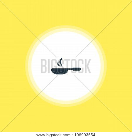 Beautiful Cooking Element Also Can Be Used As Frying Pan  Element.  Vector Illustration Of Skillet Icon.