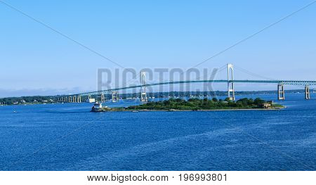 The Suspension Bridge in Newport Rhode Island