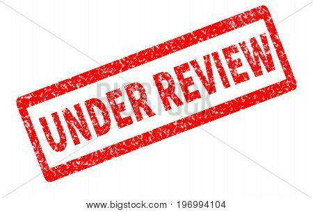 under review red rubber stamp on white background. under review sign.