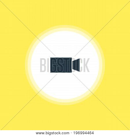 Beautiful Online Element Also Can Be Used As Video Camera Element.  Vector Illustration Of Camcorder Icon.