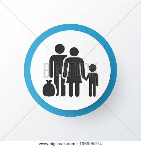 Premium Quality Isolated Fugitive Element In Trendy Style.  Refugee Icon Symbol.