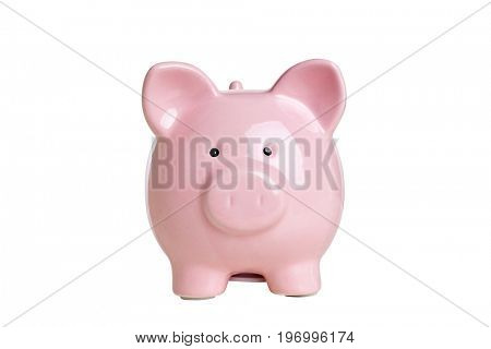 classic piggybank isolated on white