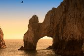 The Arch and Land's End at Sunset Cabo San Lucas Mexico poster