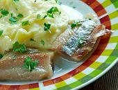 Finnish Marinated herring with potatoes - Matjessill med farskpotatis poster