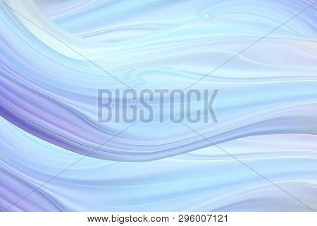Modern Blue Flow Poster. Wave Liquid Shape Background. Art Design For Your Design Project. Vector Il