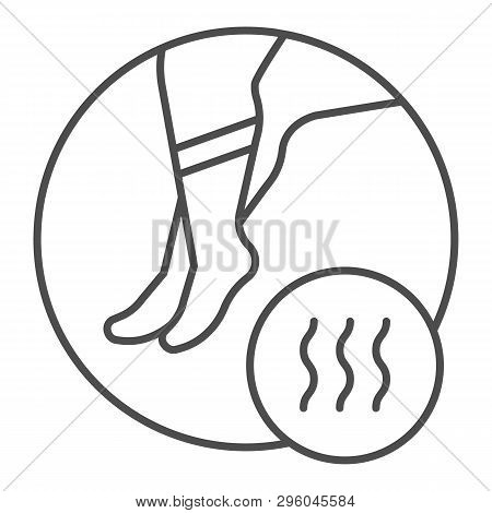 Foot With Bad Odor Thin Line Icon. Smelly Socks Vector Illustration Isolated On White. Stinky Feet O