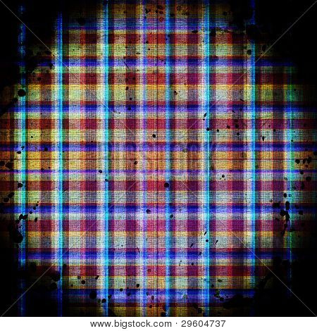 Checkered Blue Grunge Background. with some stains on it