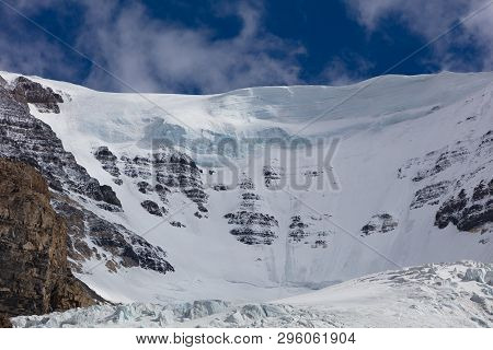 The Snowy Columbia Ice Field Athabasca Glacier In The Rocky Mountains Of Canada In Jasper National P