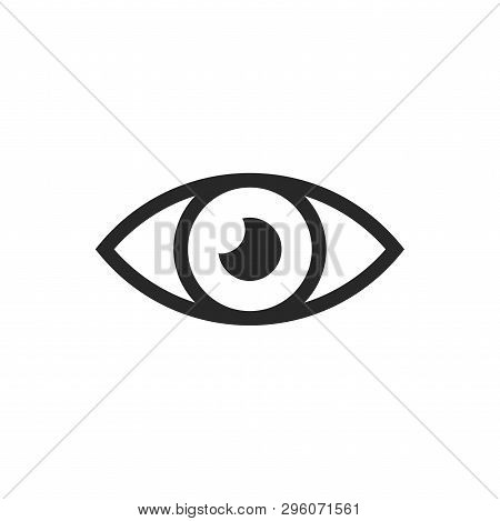 Eye Icon Isolated On White Background. Eye Icon In Trendy Design Style. Eye Vector Icon Modern And S