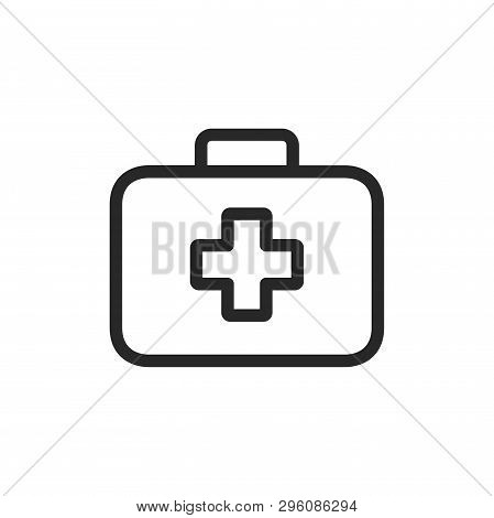 First Aid Kit Icon Isolated On White Background. First Aid Kit Icon In Trendy Design Style. First Ai