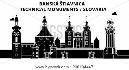 Slovakia , Banska Stiavnica ,  Travel Skyline Vector Illustration.