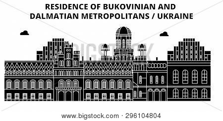Ukraine , Bukovinian And Dalmatian Metropolitans ,  Travel Skyline Vector Illustration.