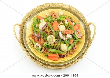 Scallop, Shrimp And Asparagus Pasta